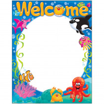 T-38357 - Welcome Sea Buddies Learning Chart in Classroom Theme