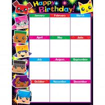 T-38371 - Birthday Blockstars Learning Chart in Classroom Theme