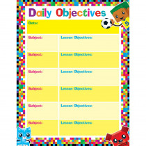 T-38374 - Daily Objectives Blockstars Learning Chart in Classroom Theme