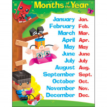 T-38376 - Months Of The Year Blockstars Learning Chart in Classroom Theme