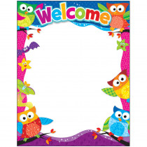 T-38451 - Welcome Owl Stars Learning Chart in Classroom Theme
