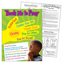 T-38704 - Teach Me To Pray Learning Chart in Inspirational