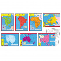 T-38930 - Combo Pks Continents Includes T38138 T38139 T38140 T38141 T38142 in Maps & Map Skills