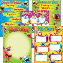 T-38970 - Classroom Basics Frog-Tastic Learning Chart Combo Pack in Classroom Theme