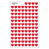T-46072 - Supershapes Stickers Red Hearts in Stickers