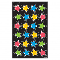 T-46348 - Amazing Stars Supershape Stickers 192 Count in Stickers