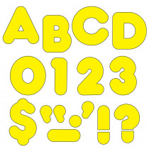 T-464 - Ready Letters 4 Inch Casual Yellow in Letters