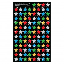 T-46606 - Supershapes Colorful Foil Stars in Stickers
