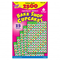 T-46920 - Bake Shop Cupcakes Superspots Stickers Value Pk in Stickers