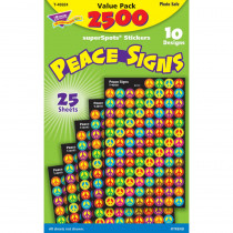 T-46924 - Peace Signs Superspots Stickers Value Pack in Stickers