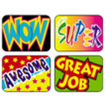 T-47127 - Applause Stickers Wow 100/Pk Words Acid-Free in Motivational