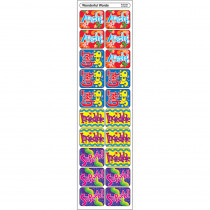 T-47131 - Applause Stickers Wonderful 100/Pk Words Acid-Free in Motivational