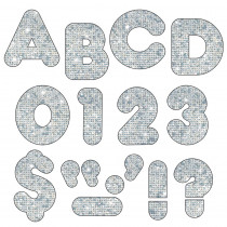 T-506 - Ready Letters 2 Inch Casual Silver Sparkle in Letters