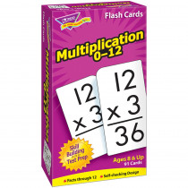T-53105 - Flash Cards Multiplication 91/Box Numbers 0-12 in Flash Cards