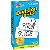 T-53106 - Flash Cards Division 0-12 91/Box in Flash Cards