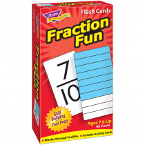 T-53109 - Flash Cards Fraction Fun 96/Box in Flash Cards