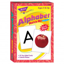 T-58001 - Match Me Cards Alphabet 52/Box Two-Sided Cards Ages 4 & Up in Card Games