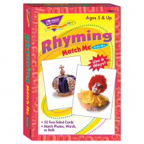 T-58007 - Match Me Cards Rhyming 52/Box Words Two-Sided Cards Ages 5 & Up in Card Games