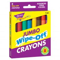 T-591 - Wipe-Off Crayons Jumbo 8/Pk in Crayons