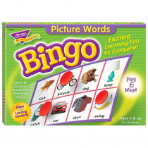 T-6063 - Bingo Picture Words Ages 5 & Up in Bingo