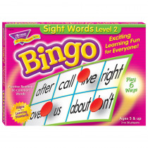 T-6076 - Sight Words Level 2 Bingo Game in Bingo