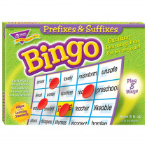 T-6140 - Prefixes & Suffixes Bingo Game in Bingo