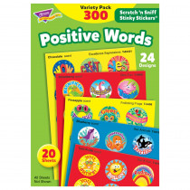 T-6480 - Stinky Stickers Positive Words Acid-Free Variety 300/Pk in Motivational