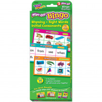 T-6602 - Rhyming Sight Words Initial Consonants Wipe Off Bingo in Games