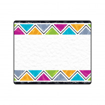 T-68128 - Color Har Triangles Terrific Labels in Name Tags