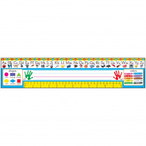 T-69401 - Reference Size Name Plates Pk-1 Zaner-Bloser Desk Toppers in Name Plates