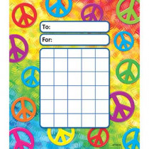 T-73031 - Peace Signs Incentive Pad in Incentive Charts