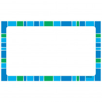 T-75003 - Stripe-Tacular Terrific Index Cards Cool Blue Blank in Index Cards
