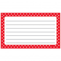 T-75302 - Polka Dots Terrific Index Cards Lined in Index Cards