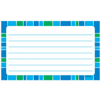 T-75303 - Stripe-Tacular Terrific Index Cards Cool Blue Lined in Index Cards