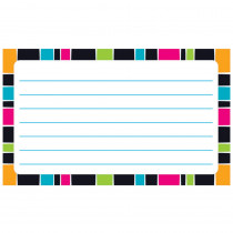 T-75304 - Stripe-Tacular Terrific Index Cards Groovy Lined in Index Cards