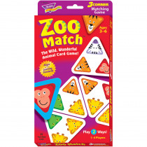 T-76006 - 3 Corner Matching Games Zoo Match in Games