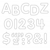T-78002 - Stick-Eze 1 Letters Numbers White 184 Uppercase 50 Numerals 90 Marks in Letters