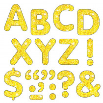 T-78304 - Stick-Eze Stick-On Letters Yellow Sparkle 2 Inch in Letters