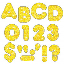 T-79009 - Ready Letters 3 Casual Yellow Sparkle in Letters