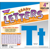 T-79291 - Ready Letters Blue 4 Venture Uppercase & Lowercase Combo in Letters