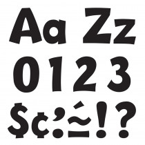 T-79741 - Ready Letter 4 Inch Playful Black Uppercase & Lowercase Combo in Letters