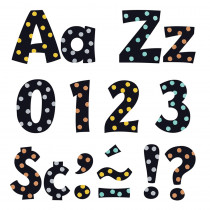 T-79770 - Dots 4In Playful Ready Letters Upper/Lower Combo Pk I Heart Metal in Letters