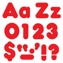 T-79902 - Ready Letter 4 Inch Casual Red Uppercase & Lowercase Combo in Letters