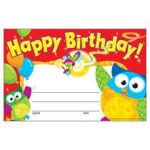 T-81044 - Happy Birthday Owl Stars Recognition Awards in Awards