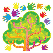 T-8212 - Hands In Harmony Lrn Tree Bulletin Board Set in Classroom Theme