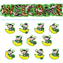 T-8219 - Bb Set Monkey Mischief Welcome in Classroom Theme