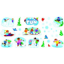 T-8263 - Winter Play Bulletin Board Set in Holiday/seasonal