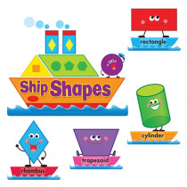 T-8270 - Ship Shapes & Colors Bulletin Board Set in Miscellaneous