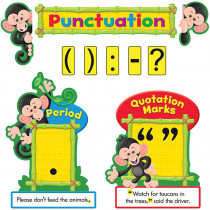 T-8282 - Monkey Mischief Punctuation Bulletin Board Set in Language Arts