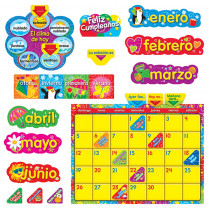 T-8321 - Wipe Off Stars N Swirls Calendar Cling Spanish  Bulletin Board Set in Bulletin Board Sets